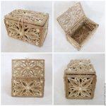 boîte de jute idées de bricolage
