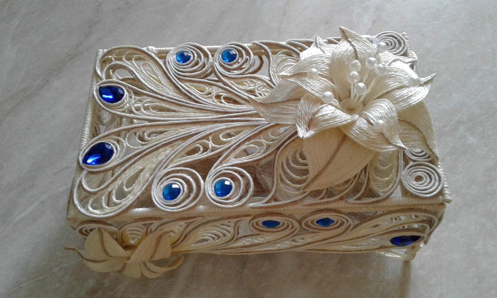 boîte à bijoux en jute