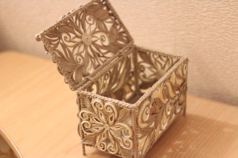 boîte de jute avec vos propres idées de design