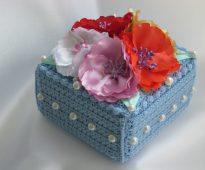 idées de conception de boîte à bijoux au crochet