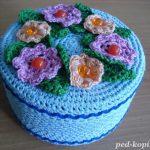 conception de photo de boîte de bijoux de crochet