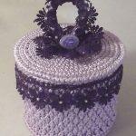 boîte à bijoux au crochet