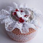 boîte à bijoux au crochet décoration photo
