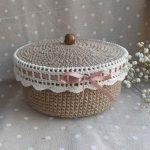 conception de décoration de boîte de crochet
