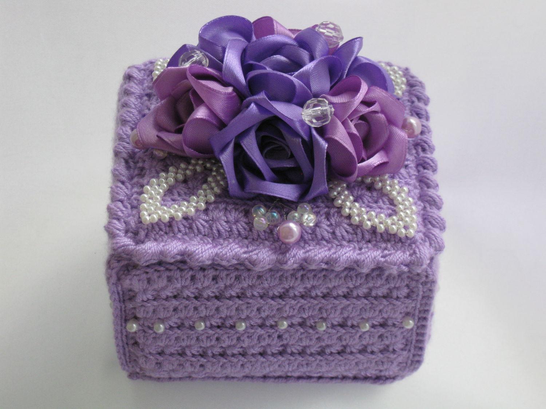 décoration de boîte au crochet