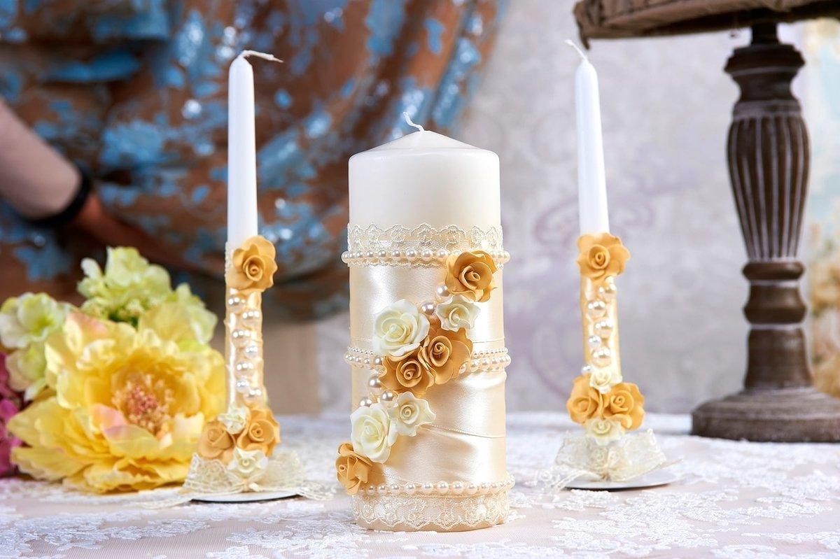 bougies de mariage décor