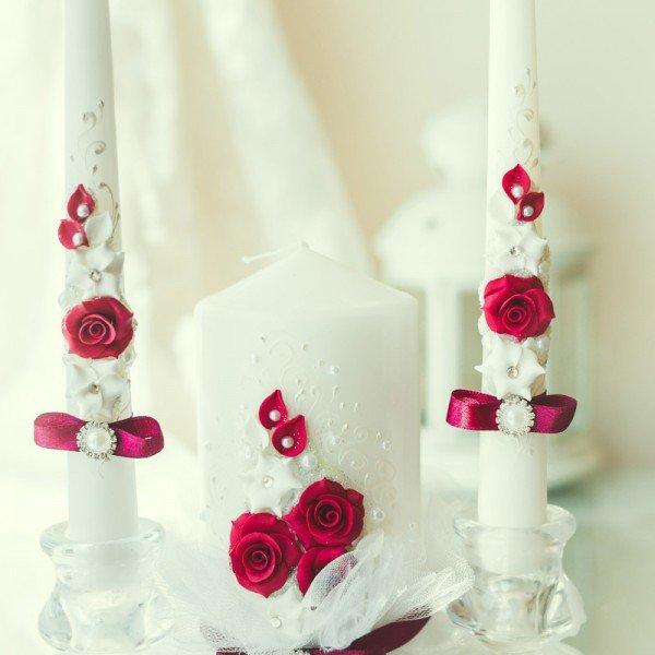 conception de photo de bougies de mariage