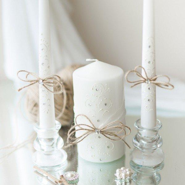 décoration de bougies de mariage