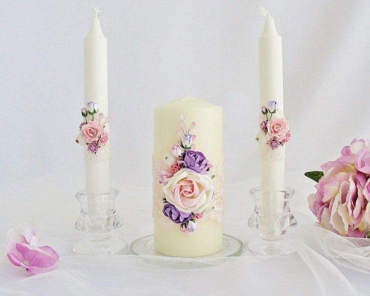 bougies de mariage faites-le vous-même photo