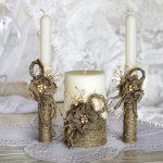 bougies de mariage idées bricolage
