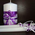 bougies de mariage décor photos