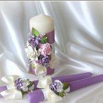conception d'idées de bougies de mariage