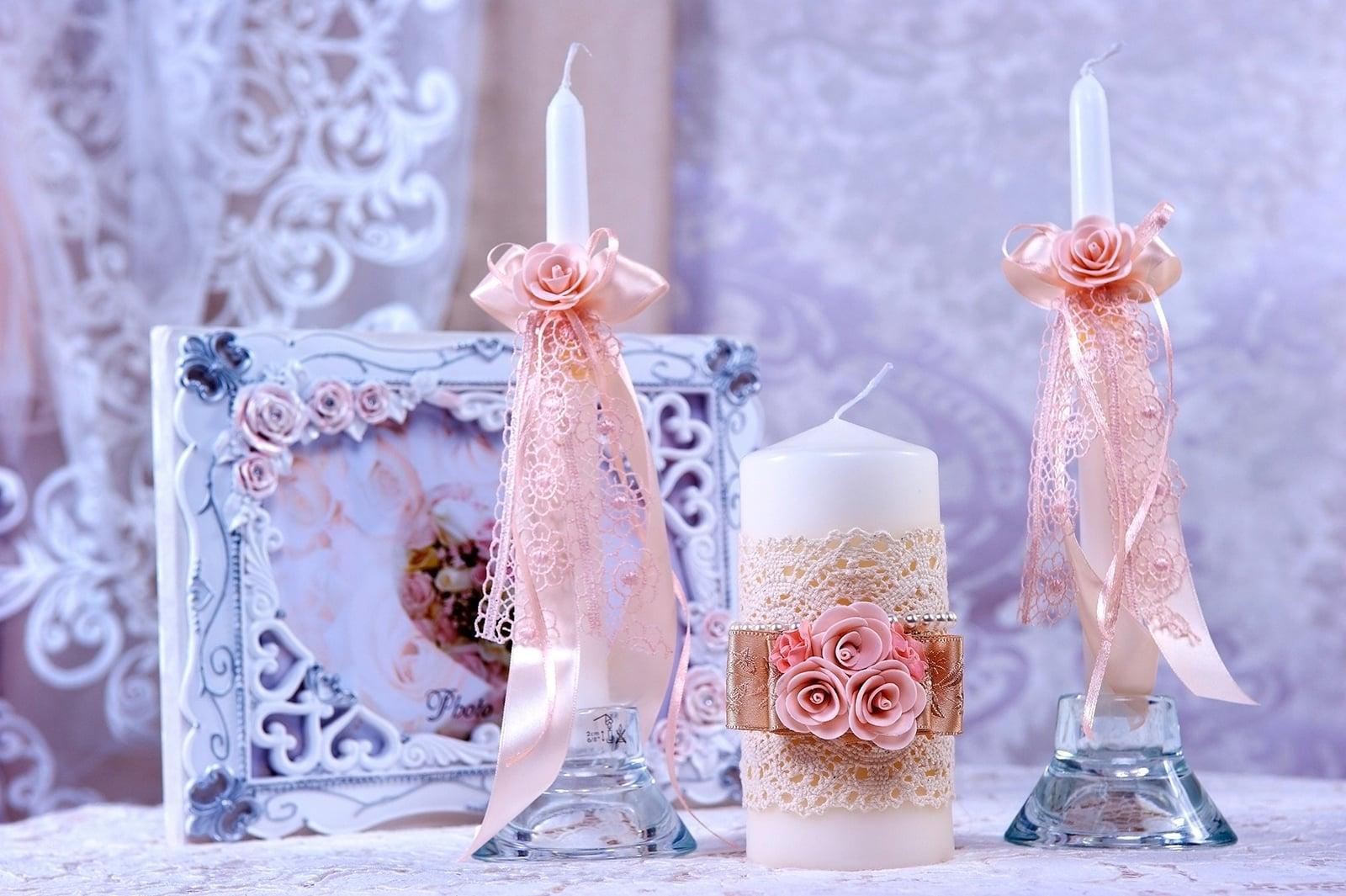idées de photo de bougies de mariage