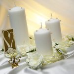 photo de décoration de bougies de mariage
