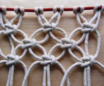 Motif géométrique de corde à linge