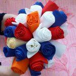 roses des idées de décoration de serviettes