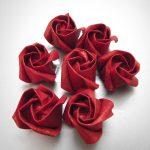 roses de serviettes photo
