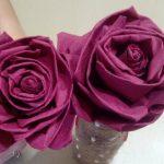 roses de serviettes photo decor