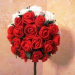 roses de topiaire de serviettes