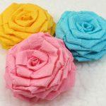 roses de décoration de serviettes
