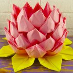 serviette en lotus