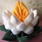 lotus de photo de conception de serviettes