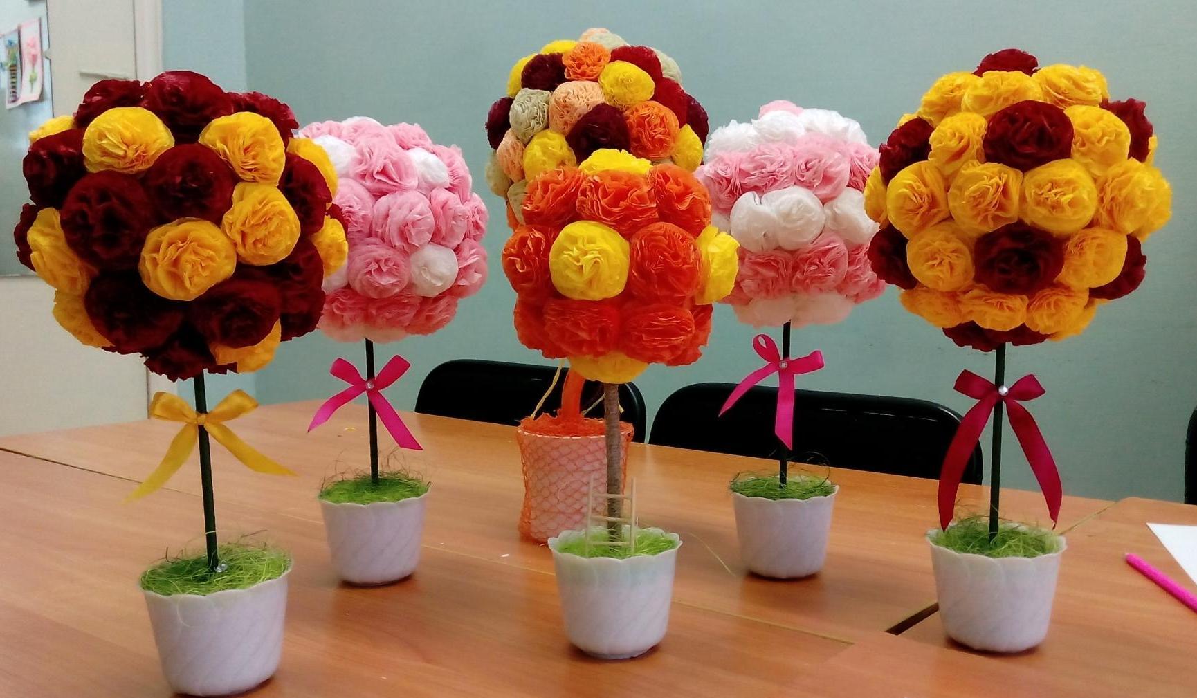 fleurs de serviettes en pots photo