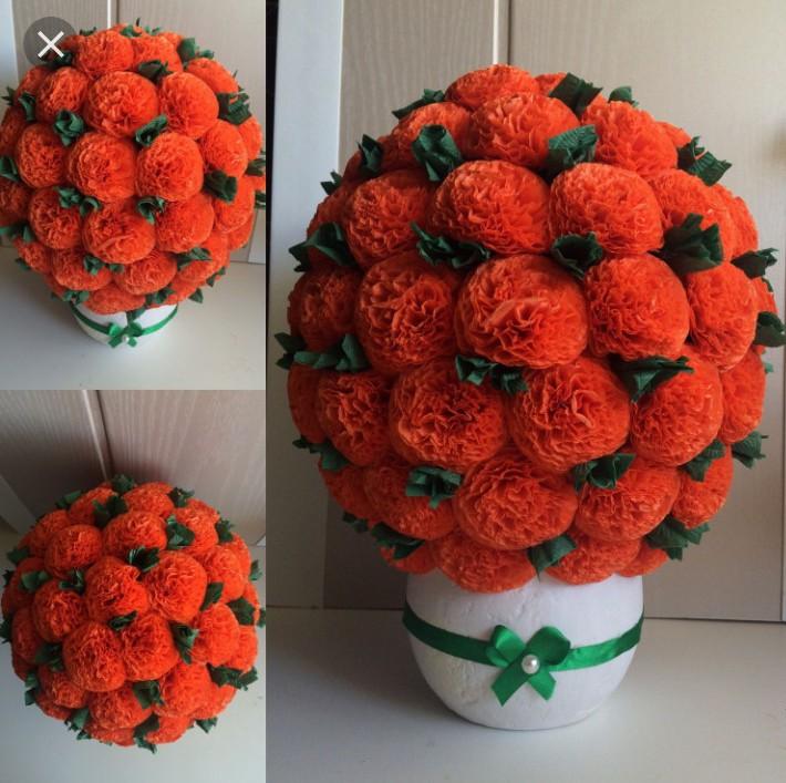 fleurs de serviettes en pots