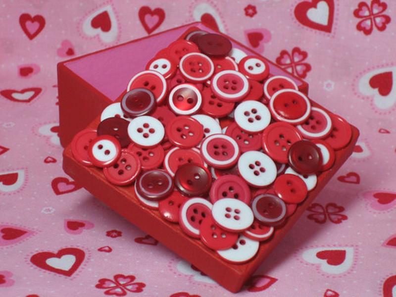 boîte à décor avec des boutons