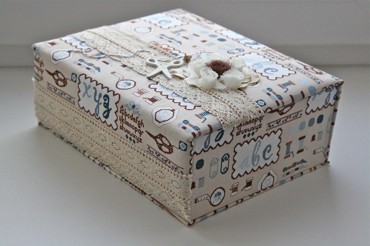 décor de boîte en tissu