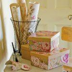 décorer les boîtes avec du papier peint