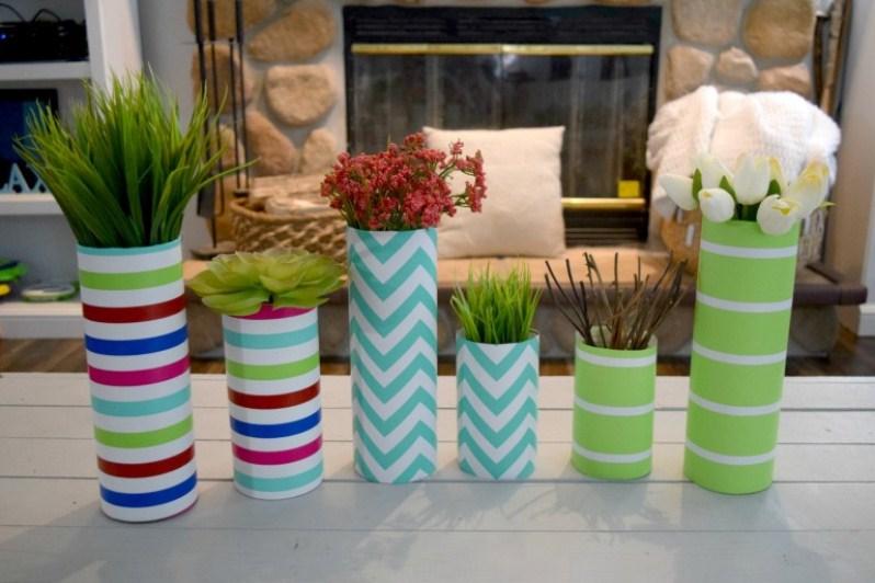 décor de papier vase
