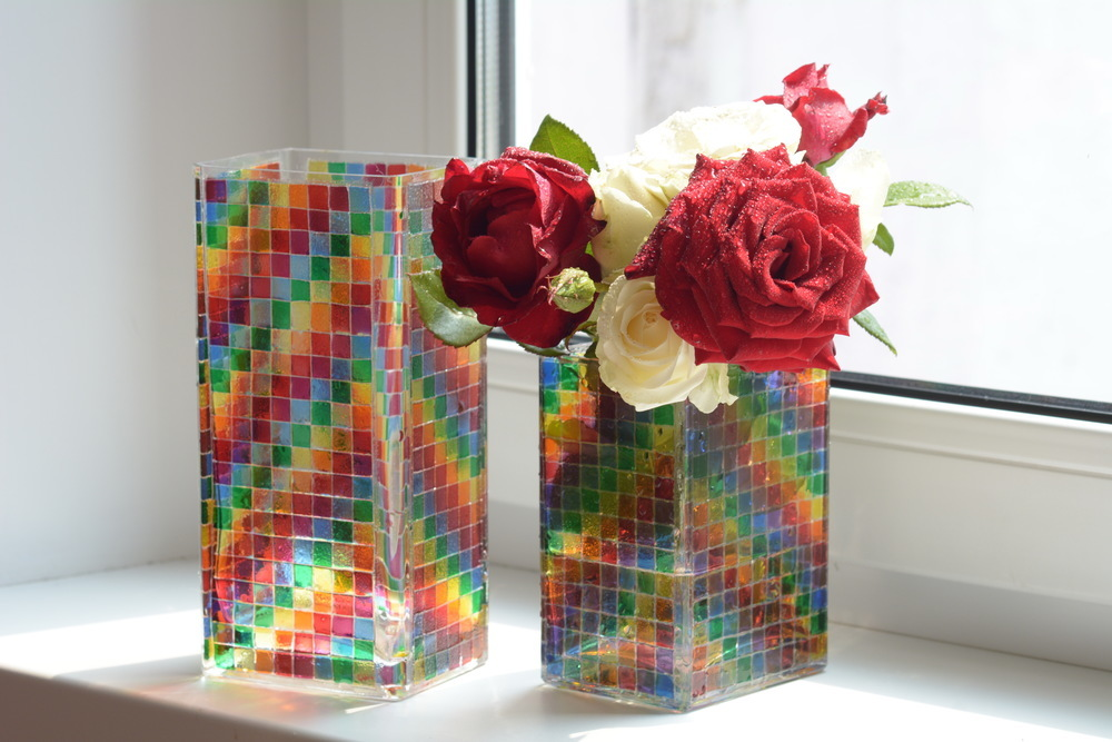 vase décor vitrail photo