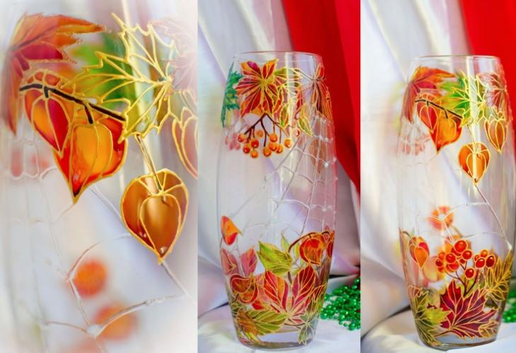 décor de vase vitrail
