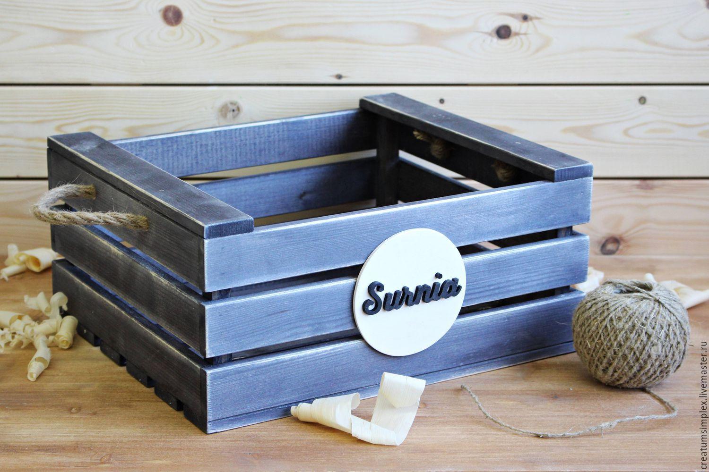boîte en bois décorative