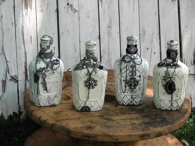 bouteilles de découpage faites-le vous-même des idées
