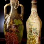 decoupage bouteilles de vin photo decor