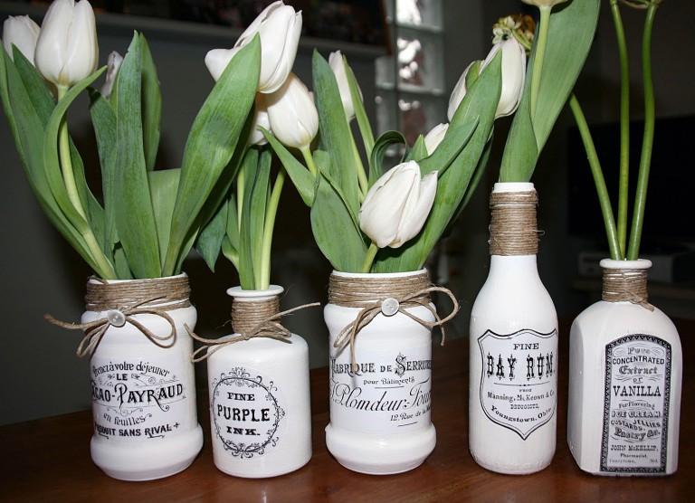 idées de photo de bouteilles de découpage