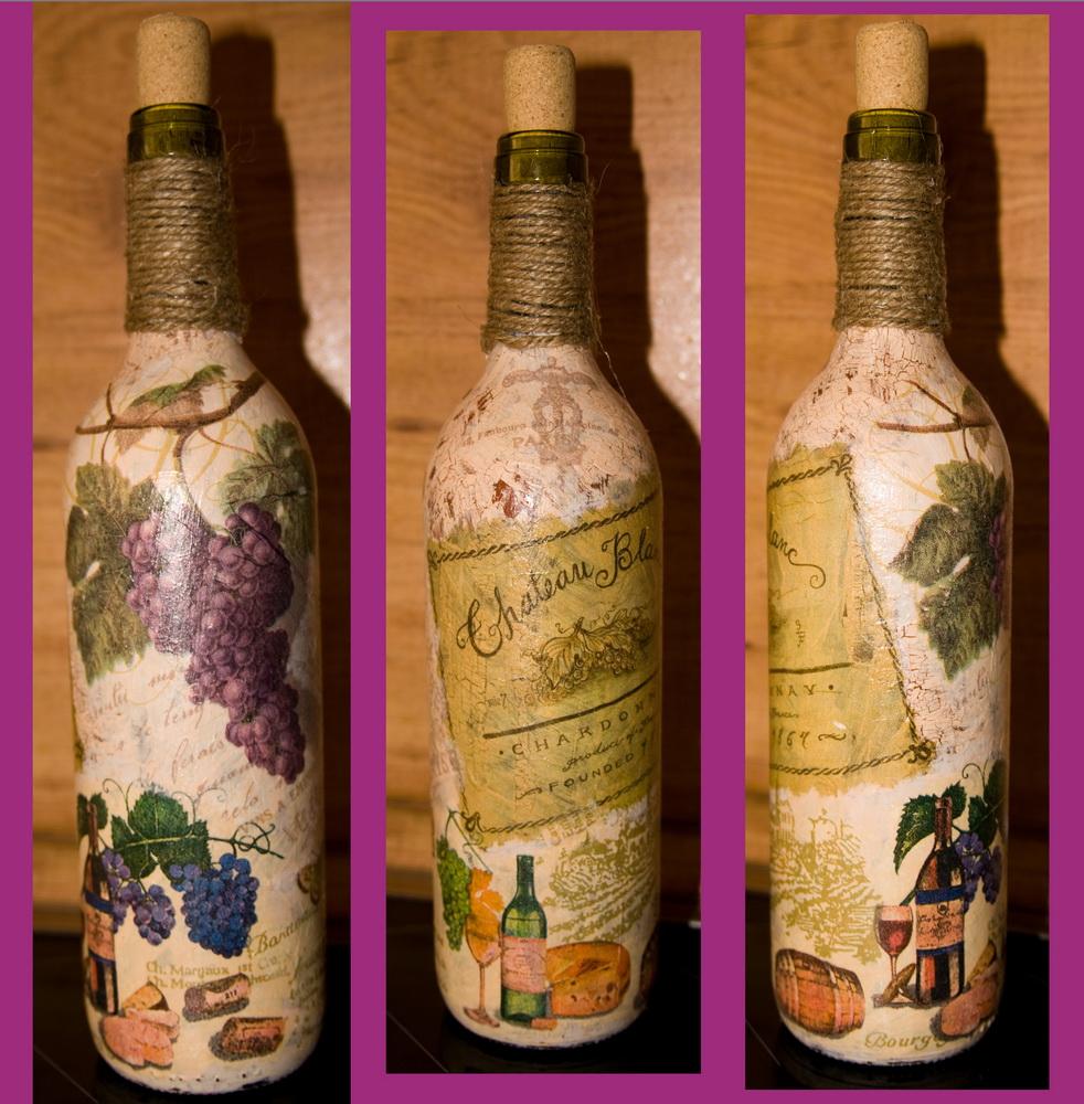 options de découpage des bouteilles