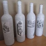 decoupage bouteilles de vin idees de decoration