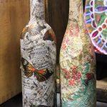 des bouteilles de vin à découper, idées de conception