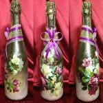 decoupage bouteilles de vin