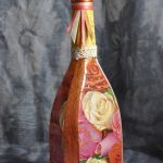 bouteilles de vin de découpage faites-le vous-même