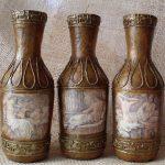bouteilles de vin de découpage faites-le vous-même options de photo