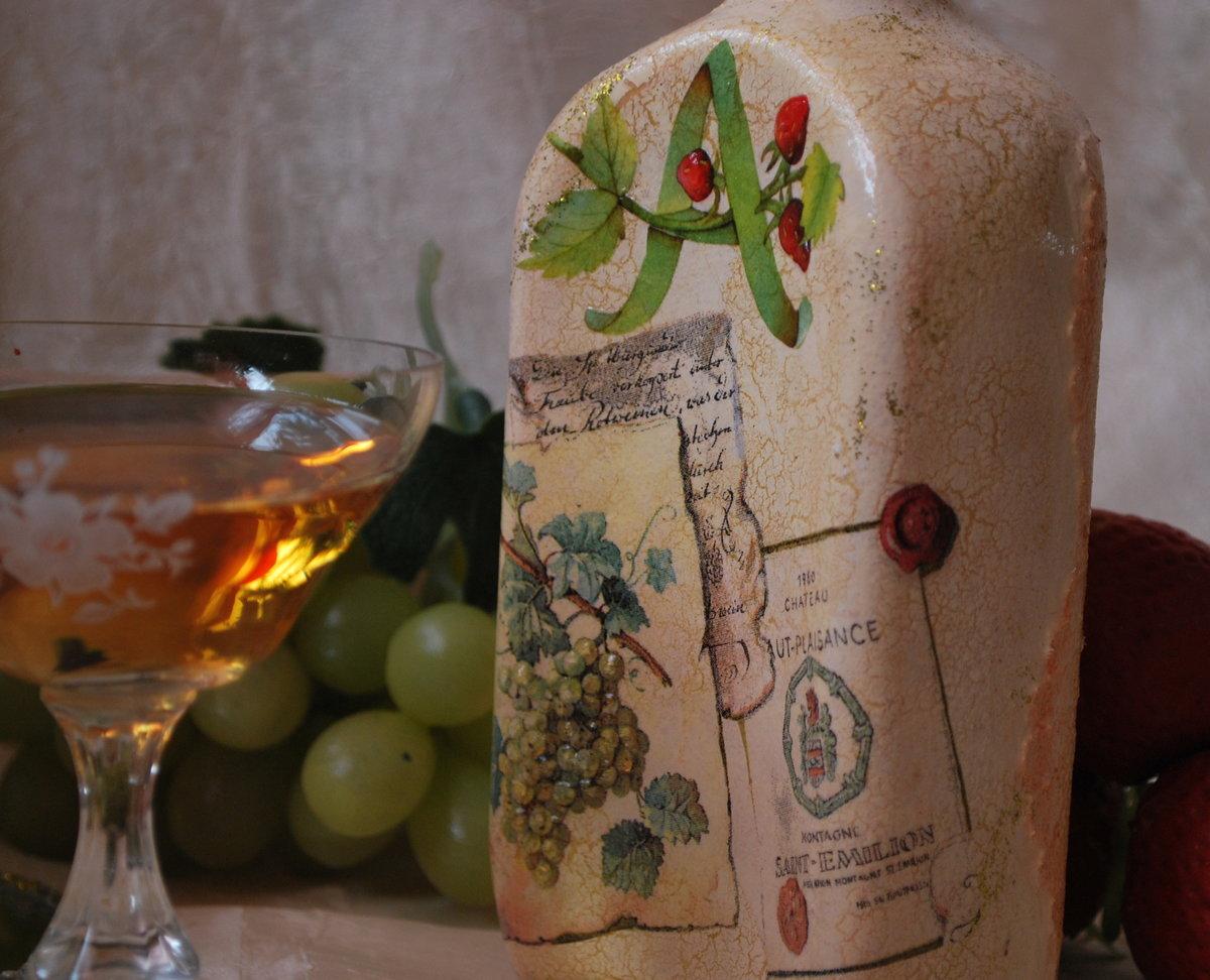 bouteilles de decoupage idees de decoration