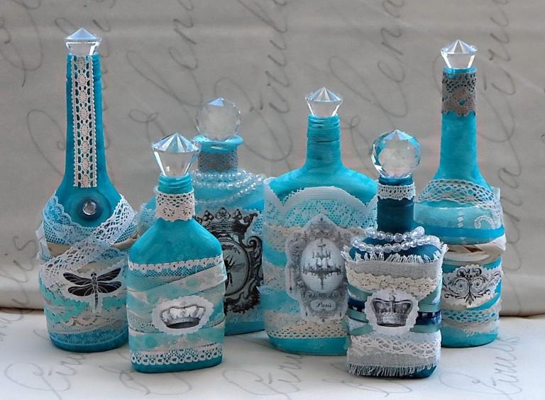 idées de design de bouteilles de découpage