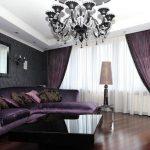 rideaux et tulle violets