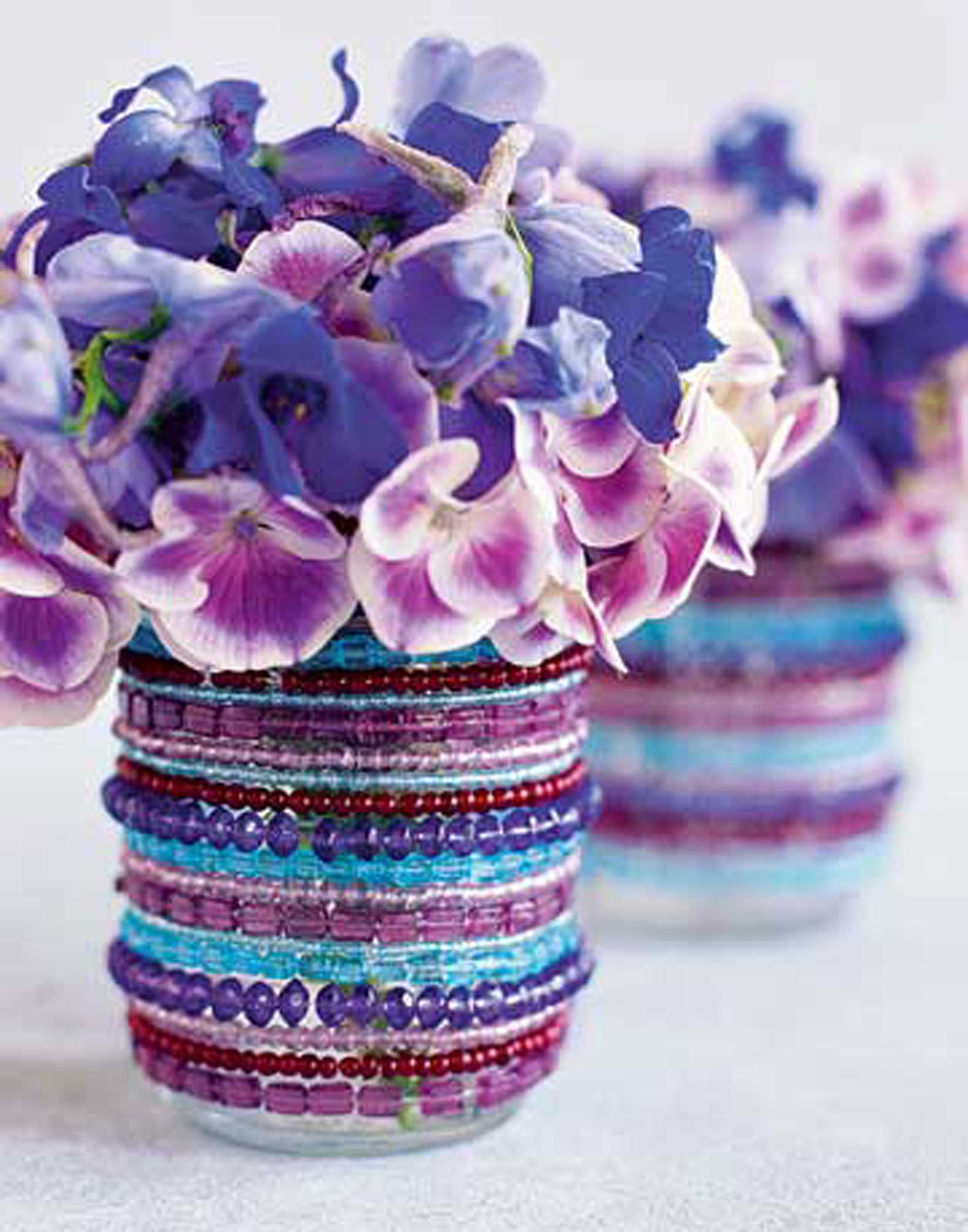 décor de perles de vase