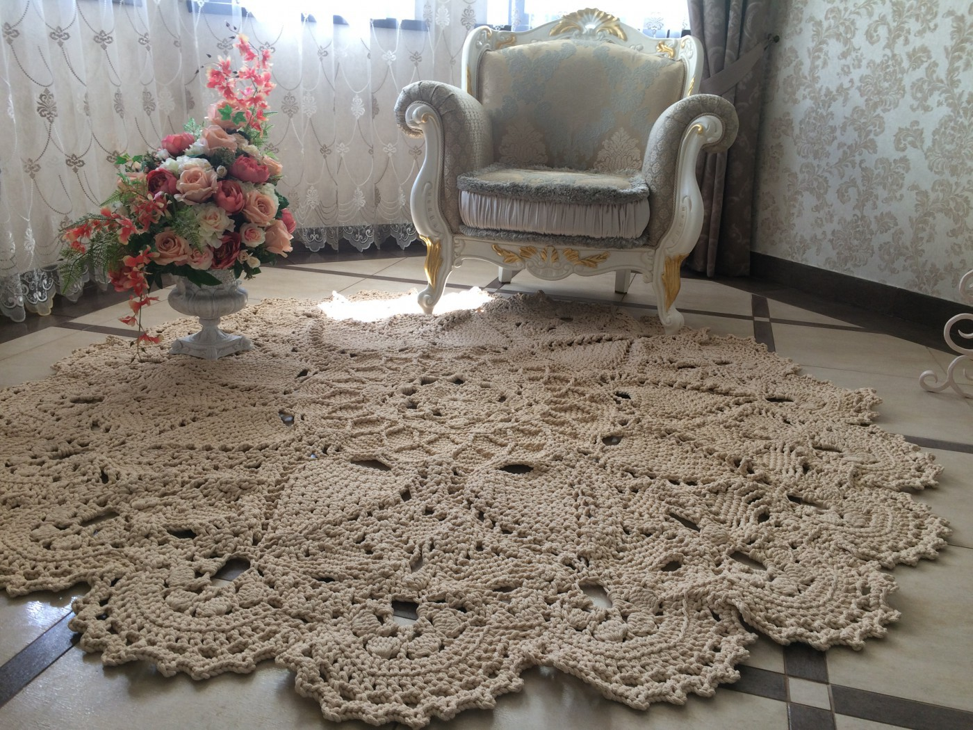 tapis design en polyester photo