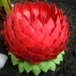 lotus de serviettes faire vous-même